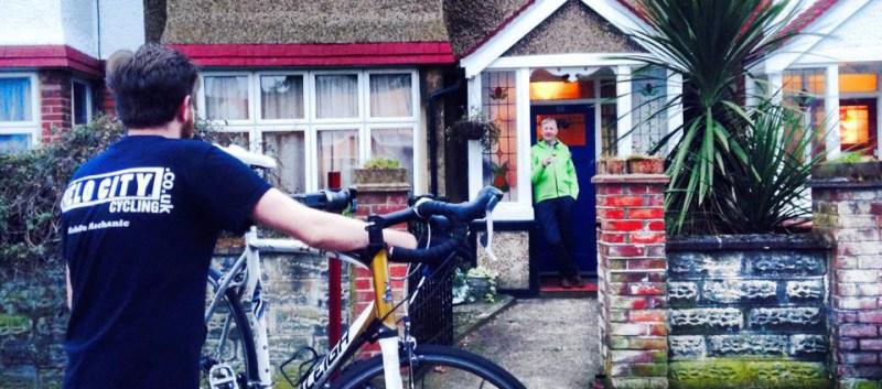 Velocity Cycle man fixing a bike