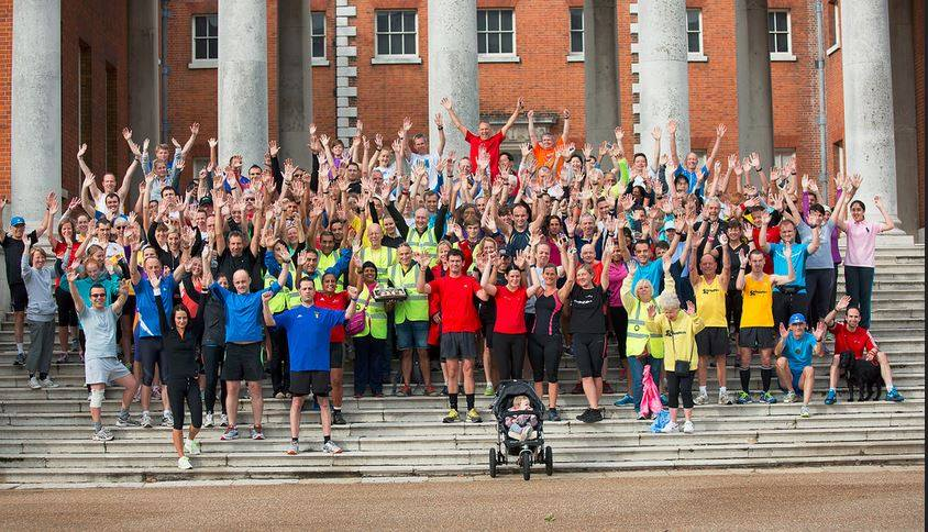 Group of Osterley park runners