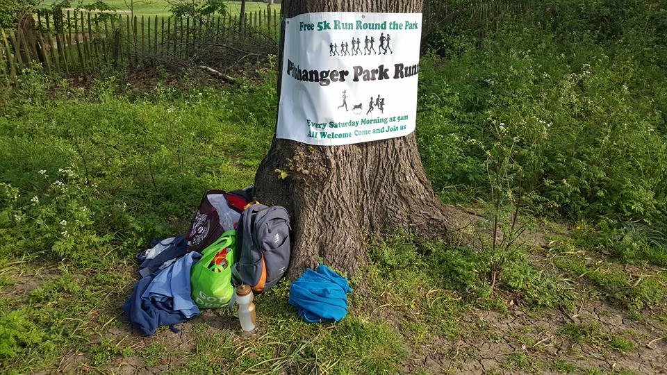 Pitshanger park runners sign, Ealing