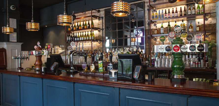 The bar at the North Star pub, Ealing