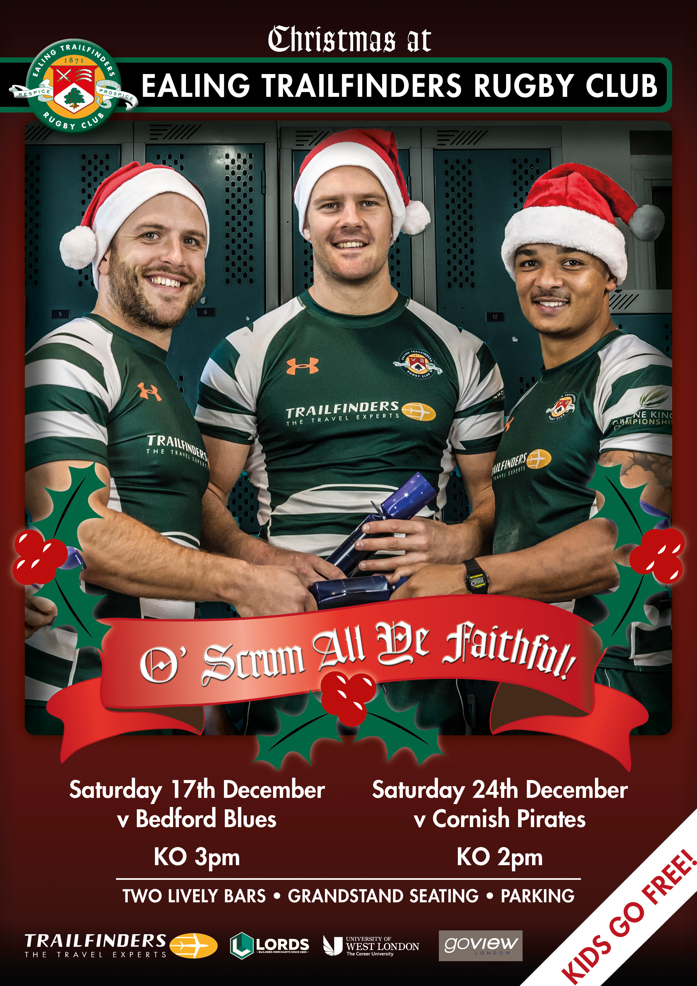 Christmas at Ealing Trailfinders Rugby Club