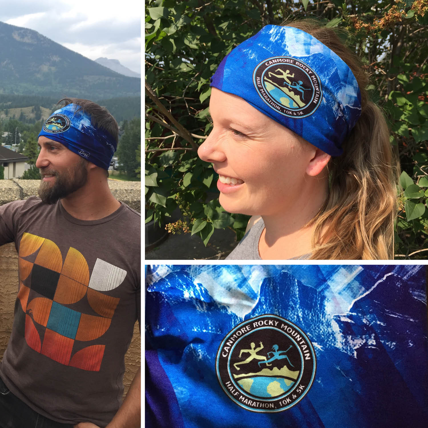 All registrants will receive a custom Canmore Rocky Mountain Half Marathon BUFF in their race package! (2017 design pictured above)