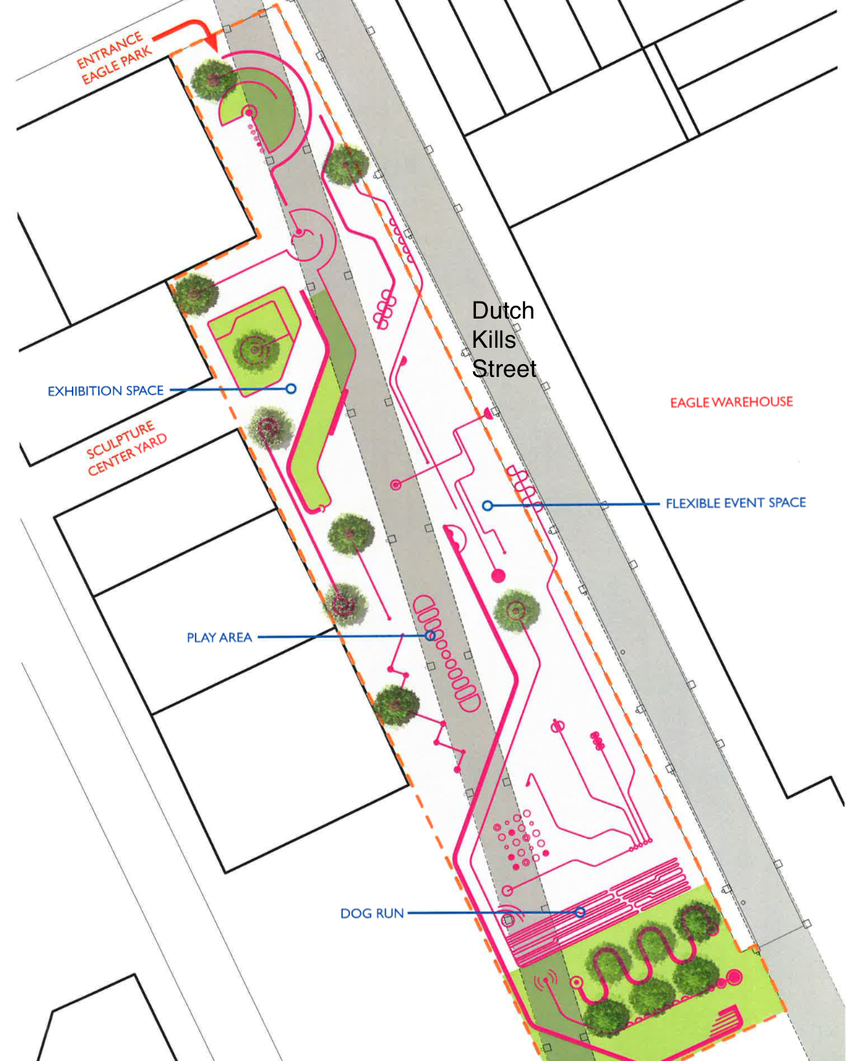Infinite Possibilities - The diversity of spaces throughout the ramplands can be adapted to serve different needs within our community - dog run, play areas, event spaces, biodiversity, public art, hang out space...