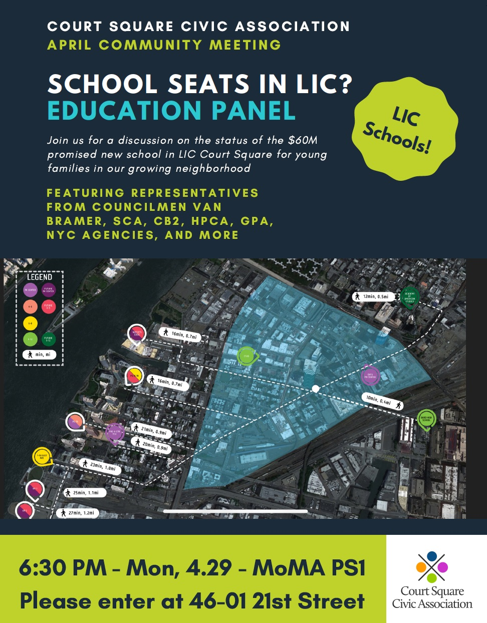 Meeting: LIC EducationCommittee: EducationDate: April 29th, 2019Time: 6:30pmLocation: MoMA PS1 -