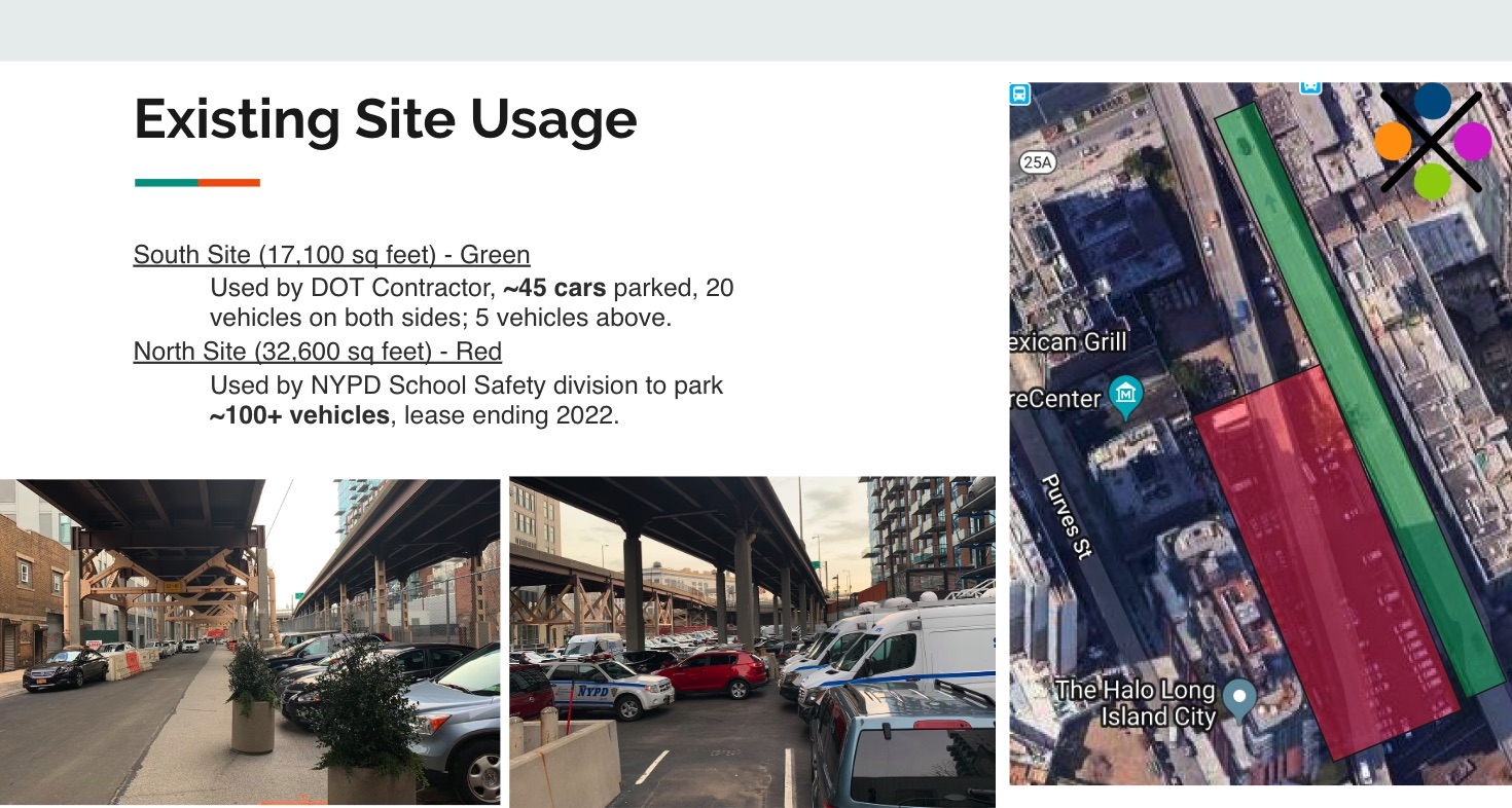 2019 - Existing Dutch Kills Site Use by DOT to store vehicles.