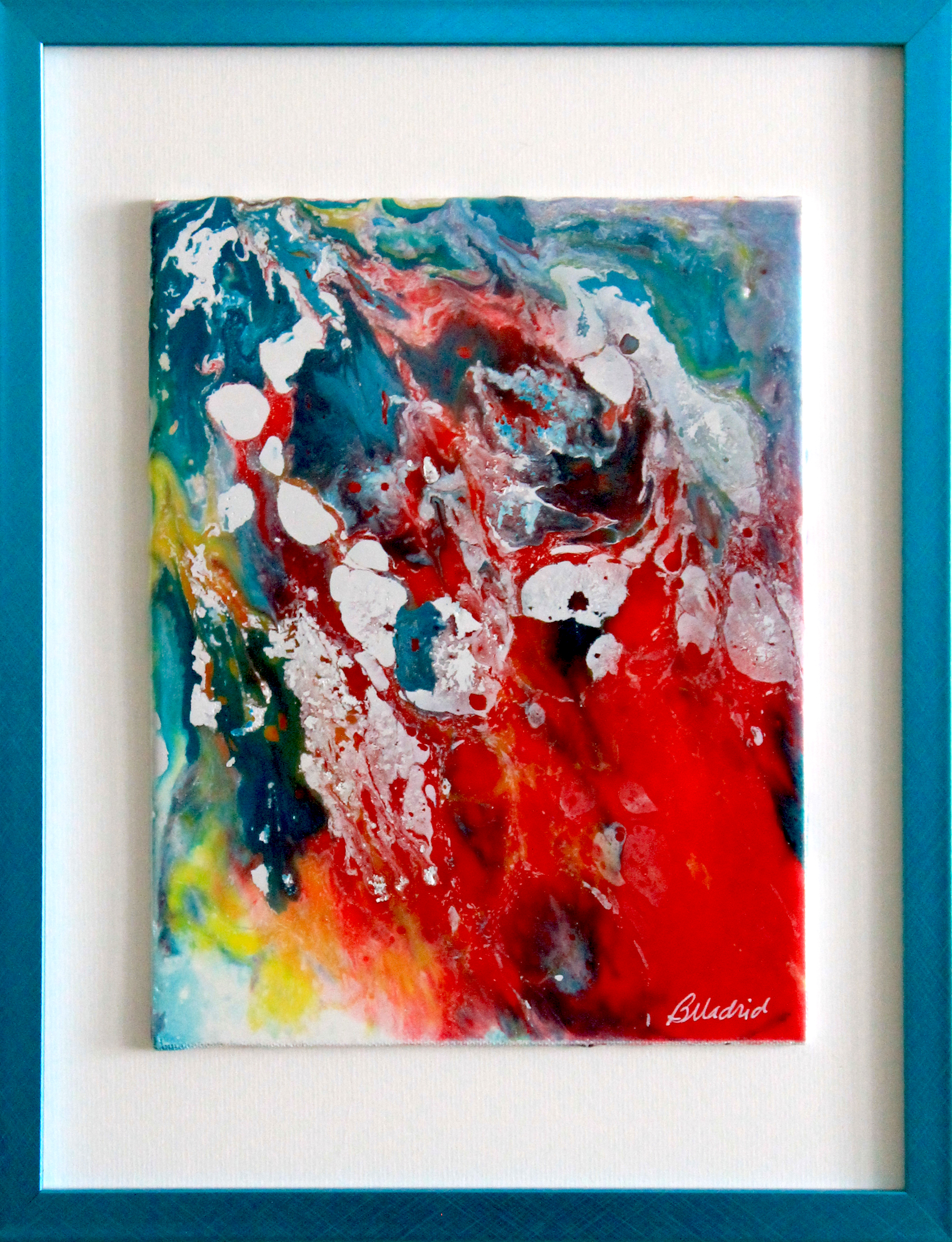 "SOLD | Focal Point | 16"" x 13"" framed canvas"