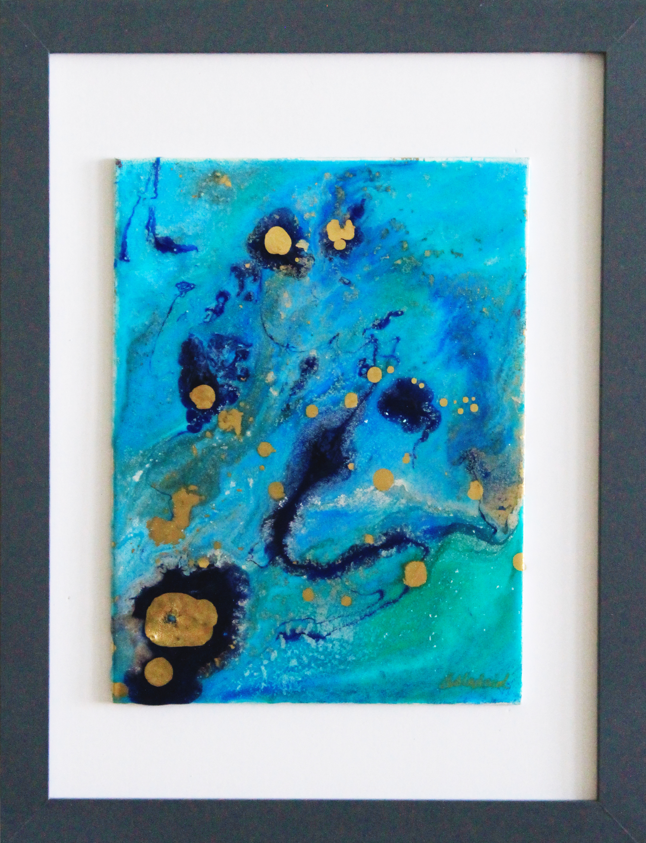 "ON EXHIBIT | Oceanic Dream | 16"" x 13"" framed canvas"