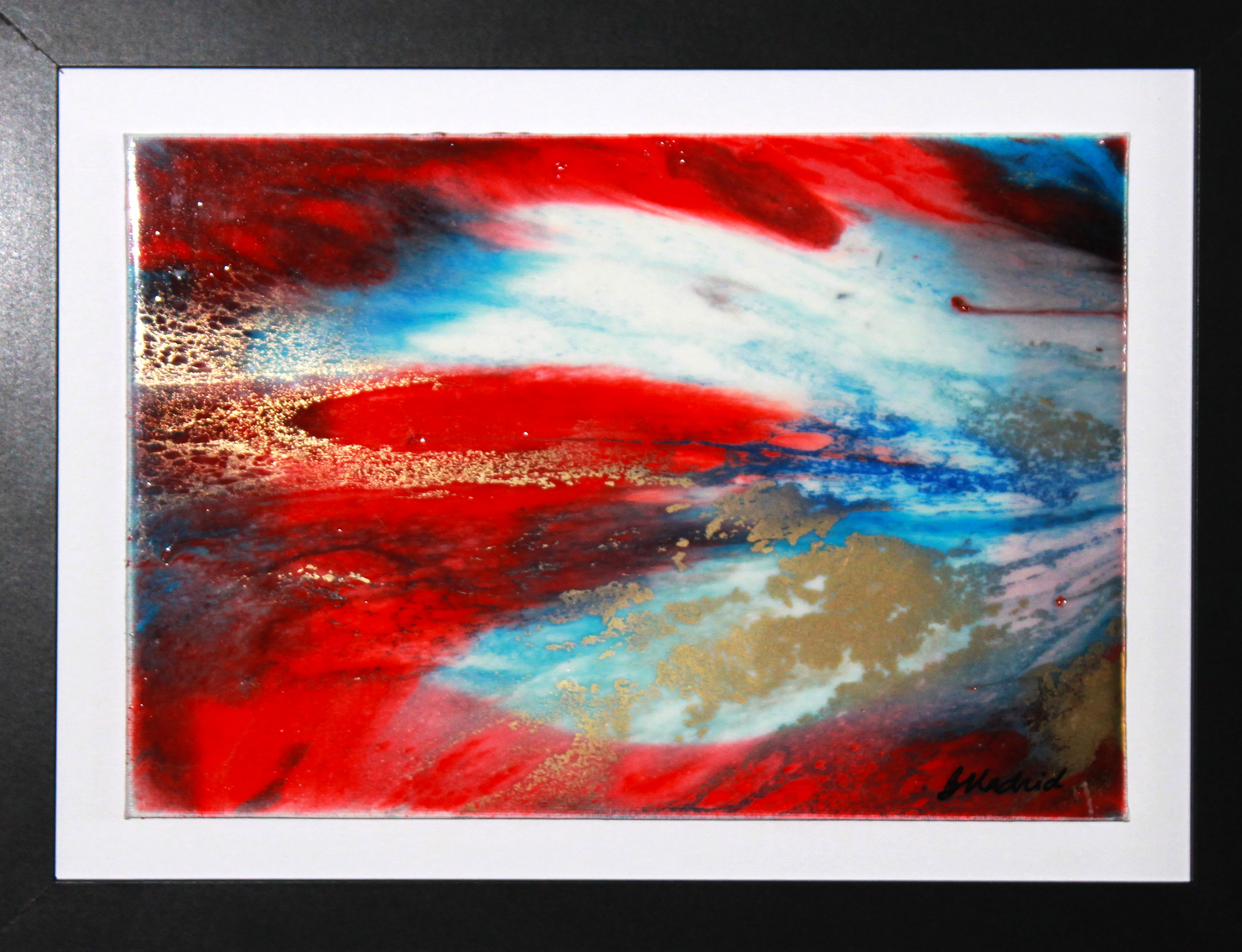 "Patriotic Excursion | 16"" x 13"" framed canvas"