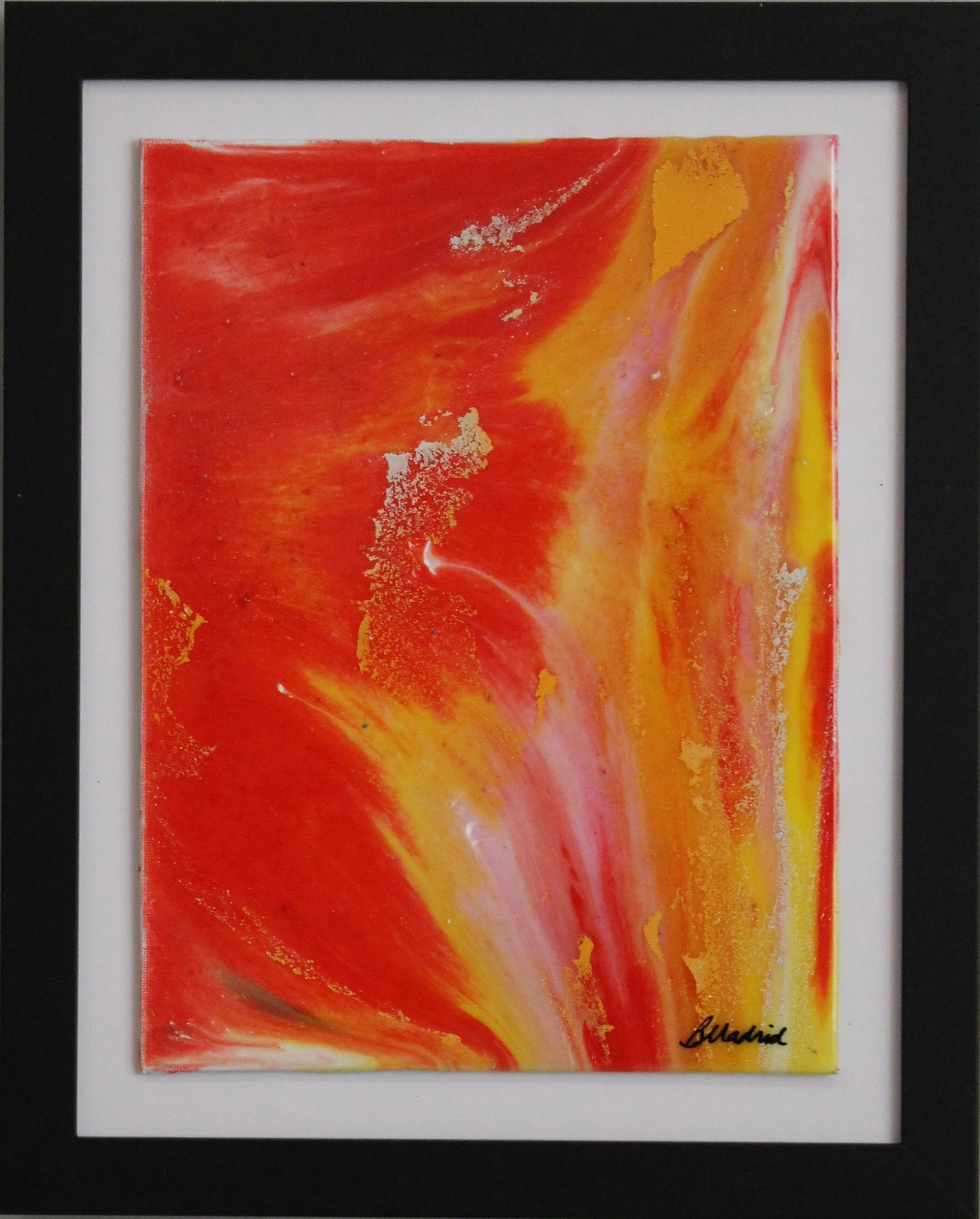 "Fiery Sky | 16"" x 13"" framed canvas"
