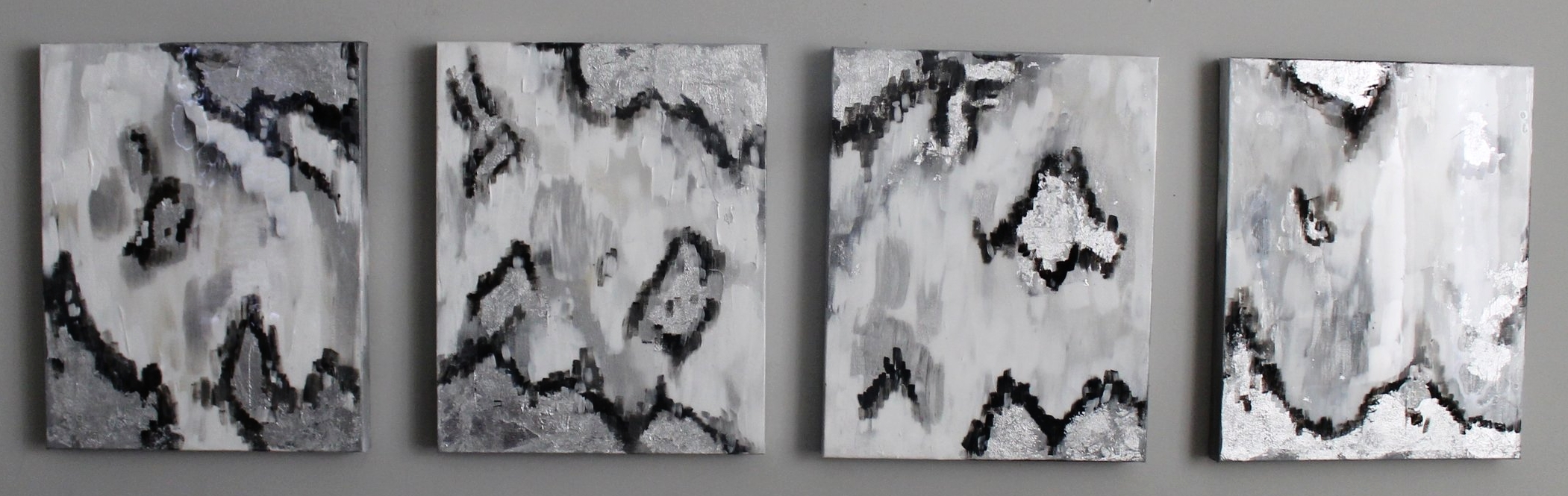 "SOLD | Artic Blast | set of 4 20"" x 16"" on soft canvas"