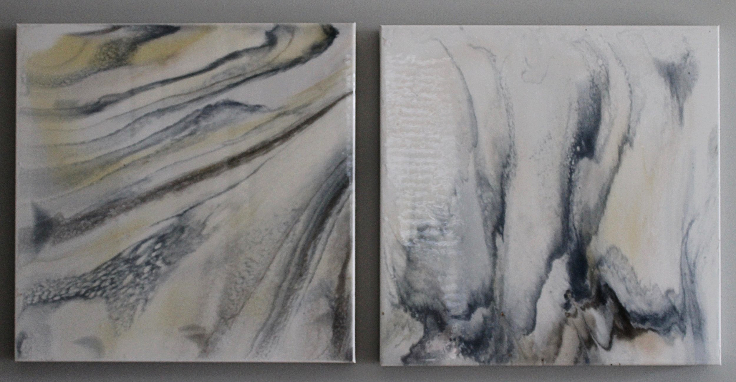 "ON EXHIBIT | title | set of 2 20"" x 20"" on soft canvas"