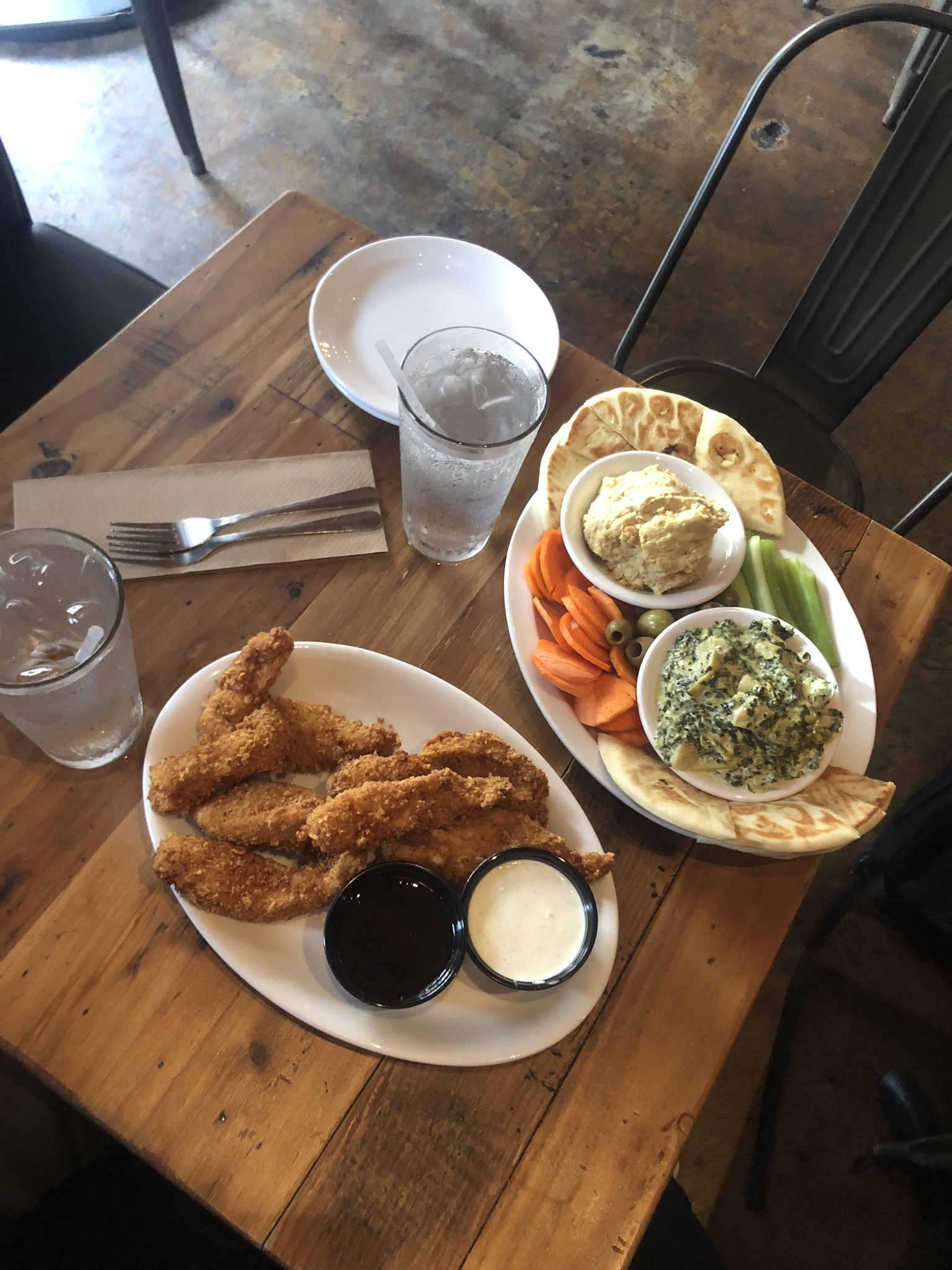 New Am Chicken Tenders and Club Med Appetizers