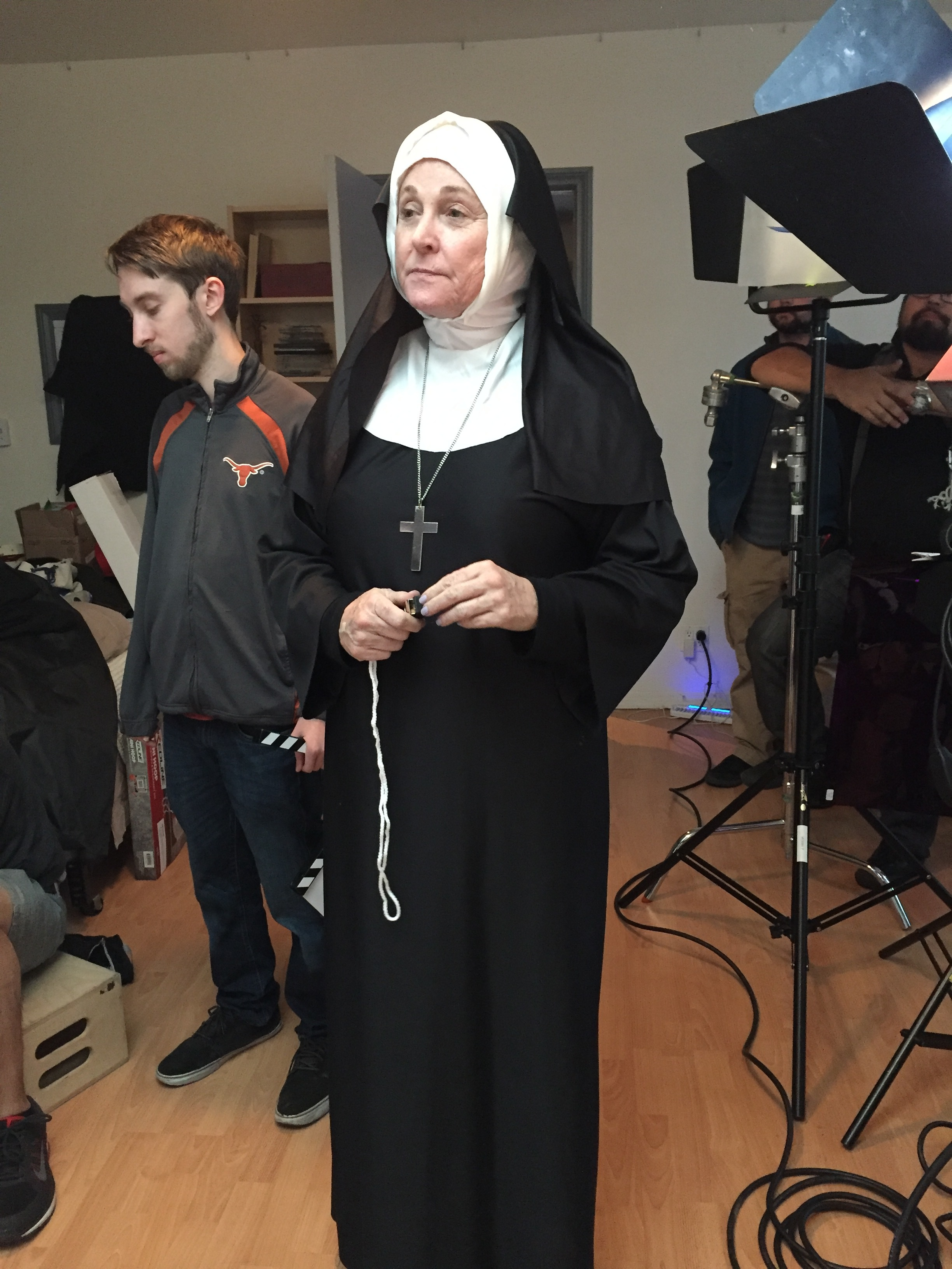 Beth Robbins as Sister Mary Scholastica.