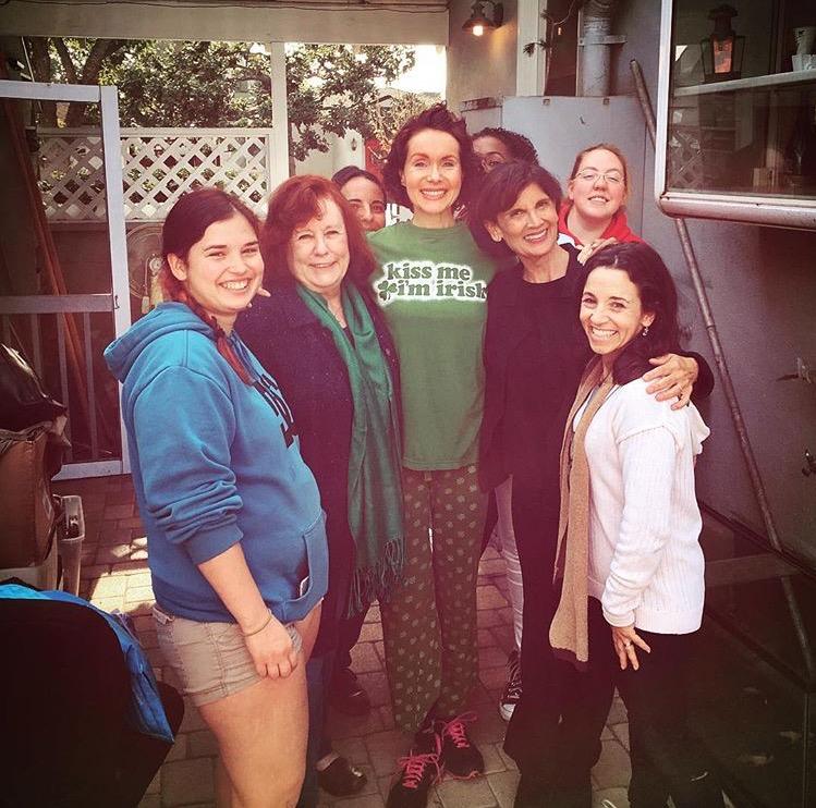 Left to Right, Athena (Sound), Carol Kline (Maggie), Maura Knowles (Mac), Jennifer Shelton (Edna), Kristy Priest (AD), Alison Shanks (Judge), Jennie Fahn (Director)