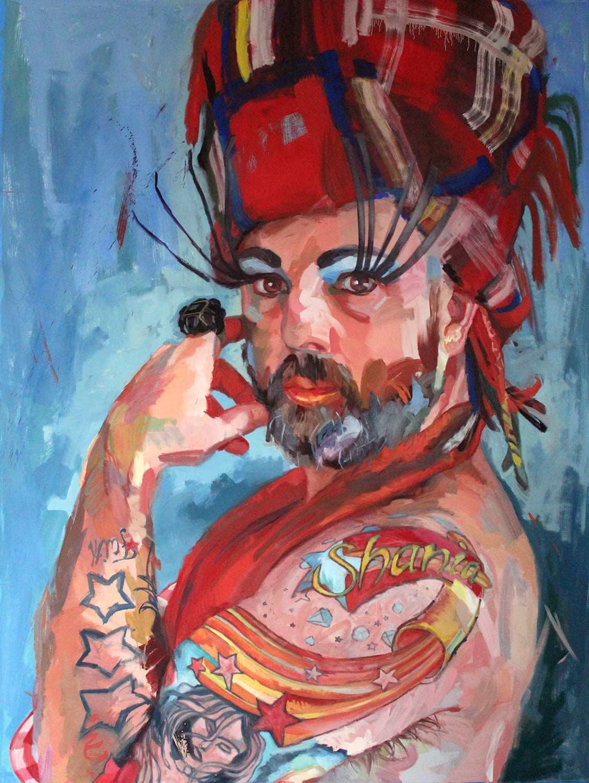 """Shania, 2015 Oil on canvas 96x72"""""""
