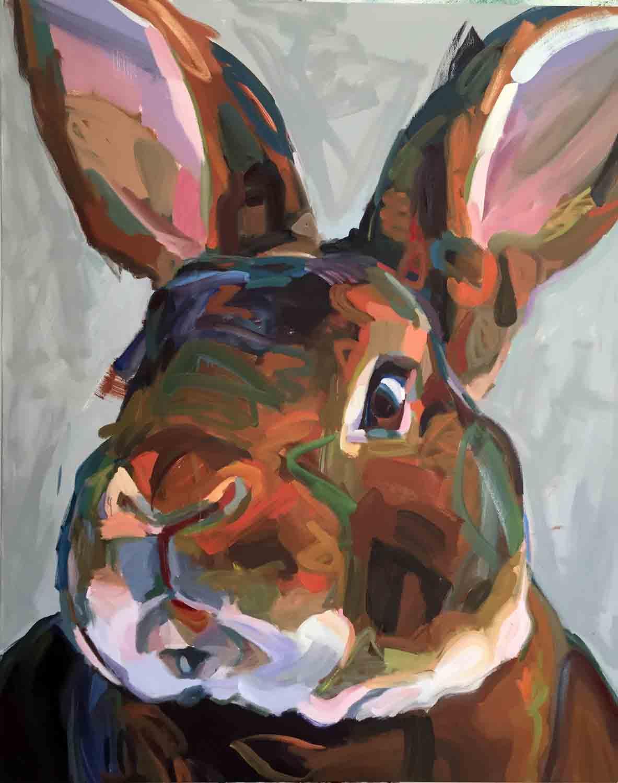 """Cinnamon Girl, 2016 Oil on canvas 48x60"""""""