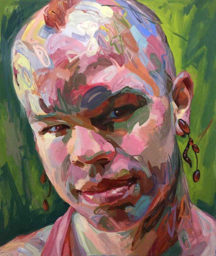 "Bombshell. 2016 Oil on canvas 84x72"""