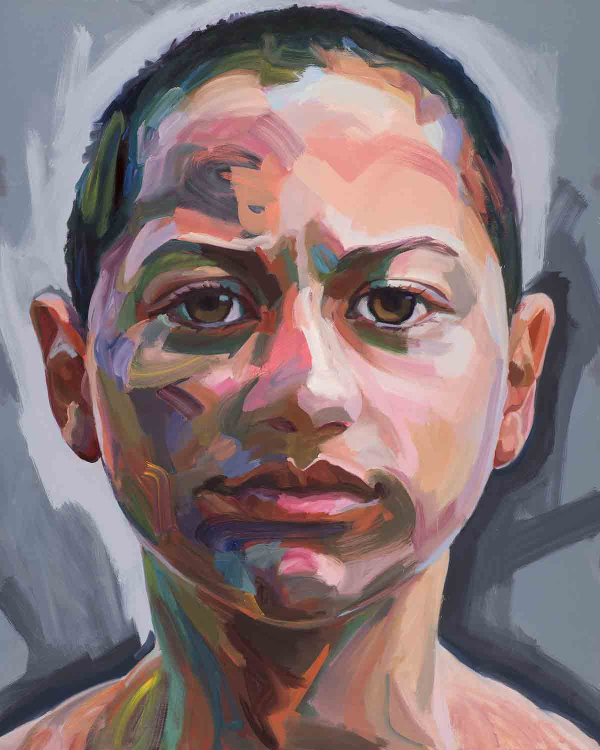 Emma, 2018 Oil on canvas 48x60""