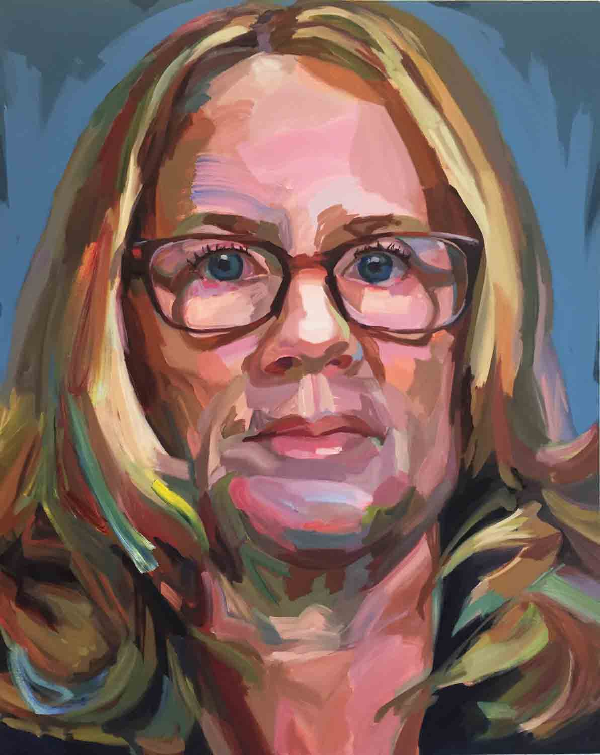 Dr. Christine Blasey Ford, 2018 Oil on canvas, 48x60""