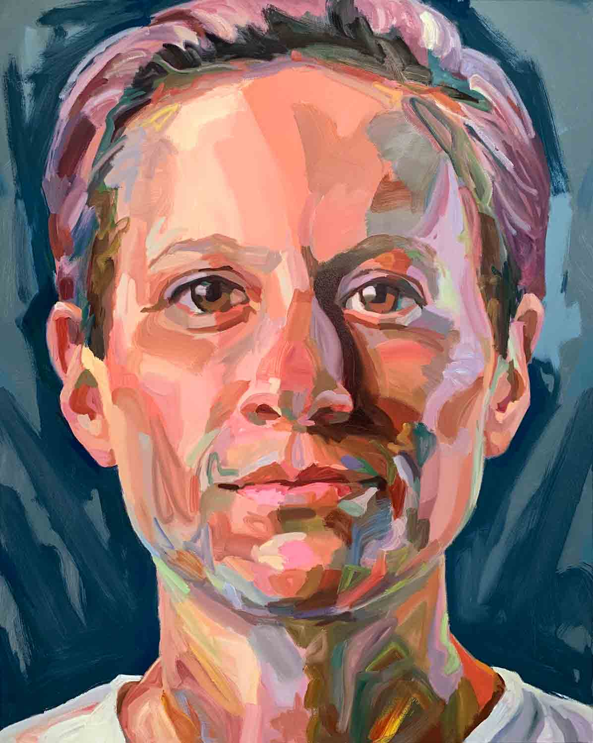 Megan Rapinoe, 2019 Oil on canvas, 48x60""