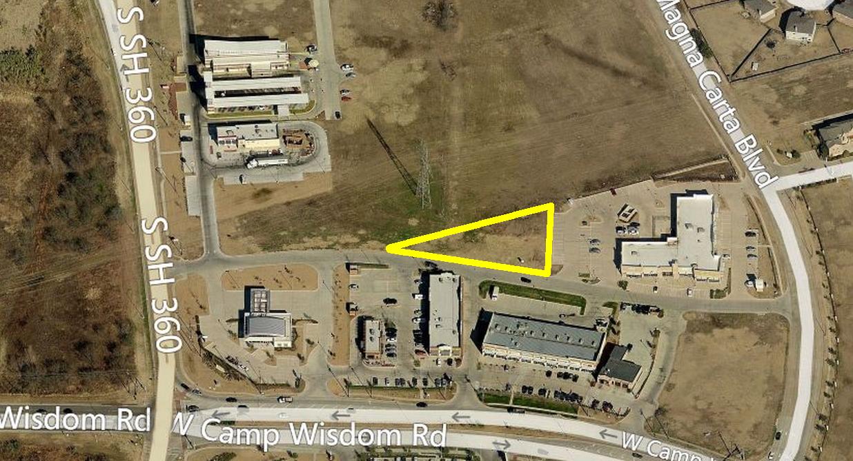 W Camp Wisdom Rd & SH 360, Grand Prairie  1.071 acres