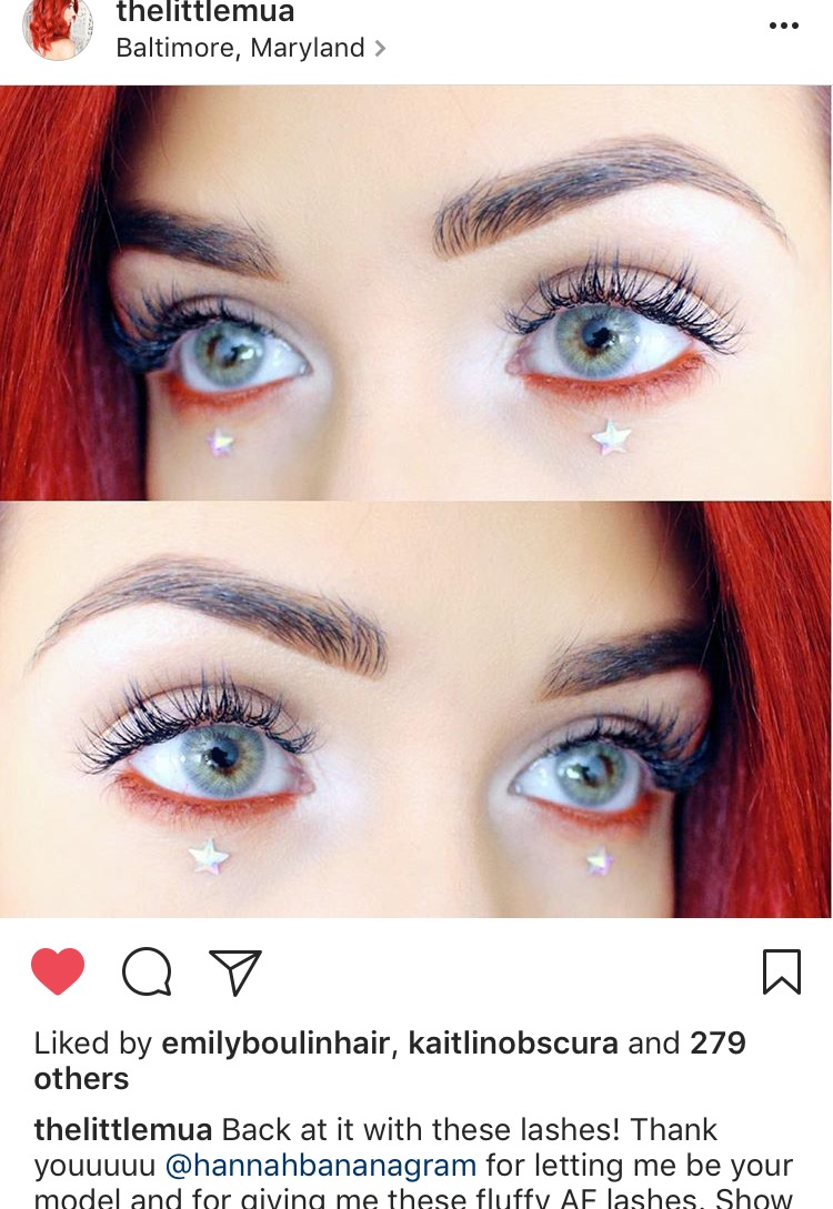 The Little MUA Instagram (Lash Extensions by me)
