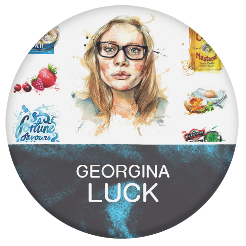 Georgina Luck, Illustrator and artist painting with watercolour and inks