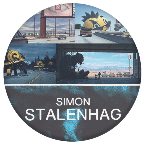 Simon Stalenhag master digital painter with painterly brush strokes mixing real life with futurism