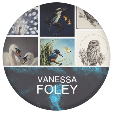 Vanessa Foley artist and portraiture, wildlife traditional painter and drawer