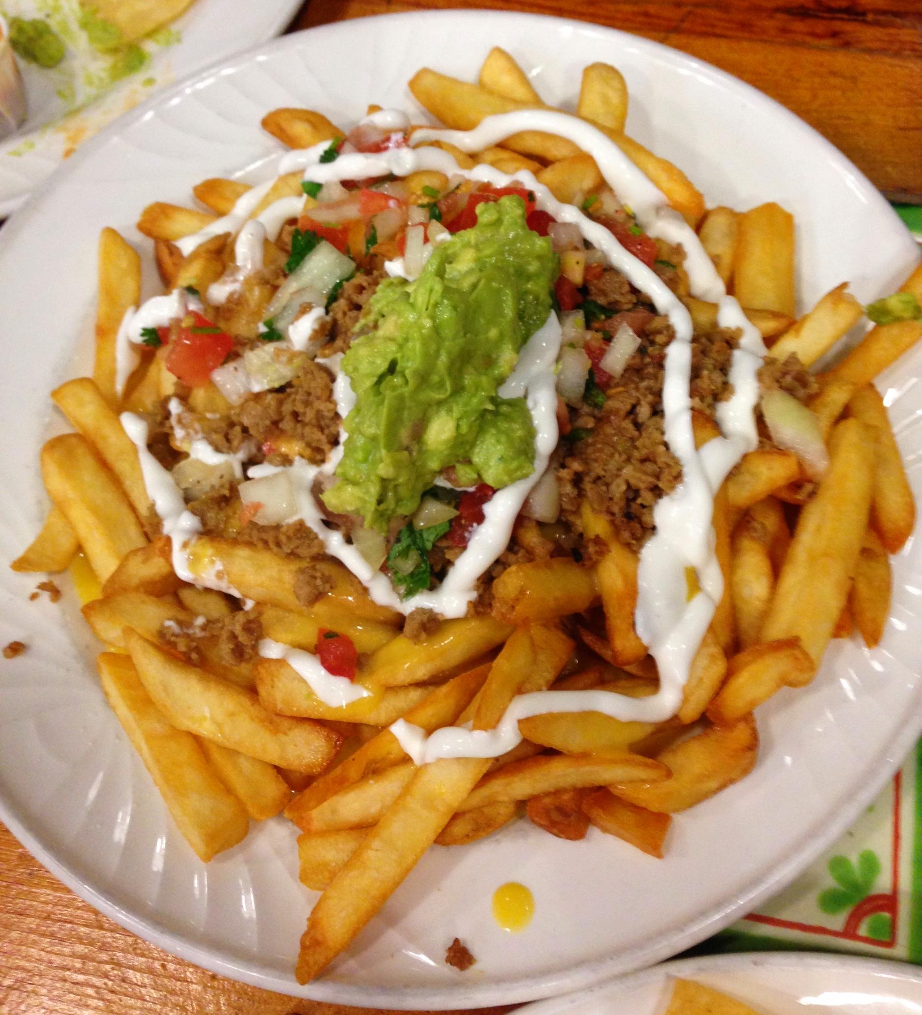 Vegan fries asada