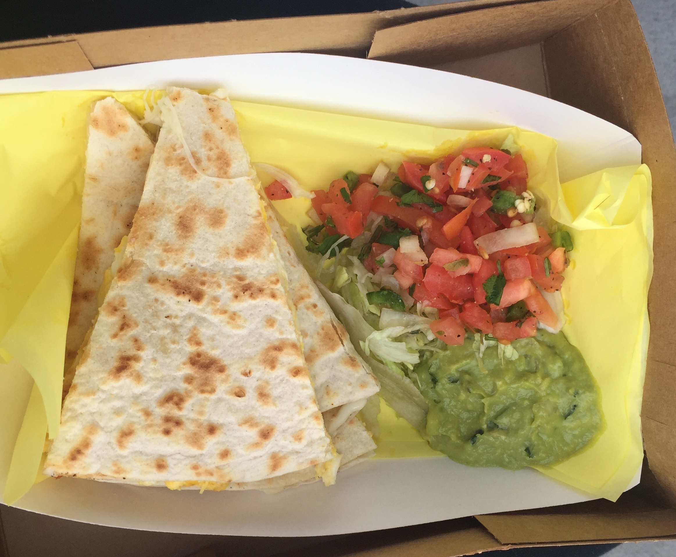 Breakfast quesadilla @Hugos