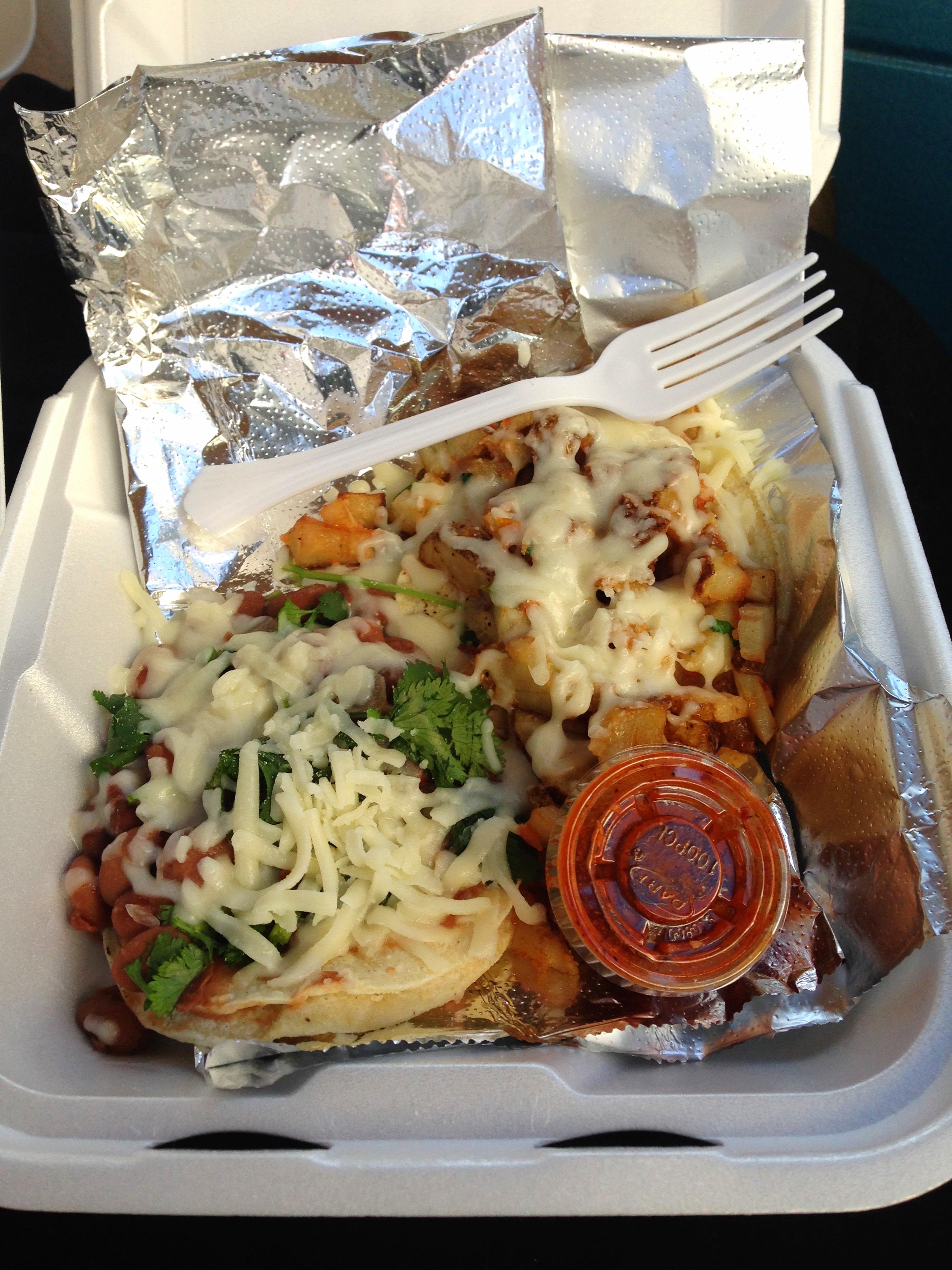 Potato and Bean taco's