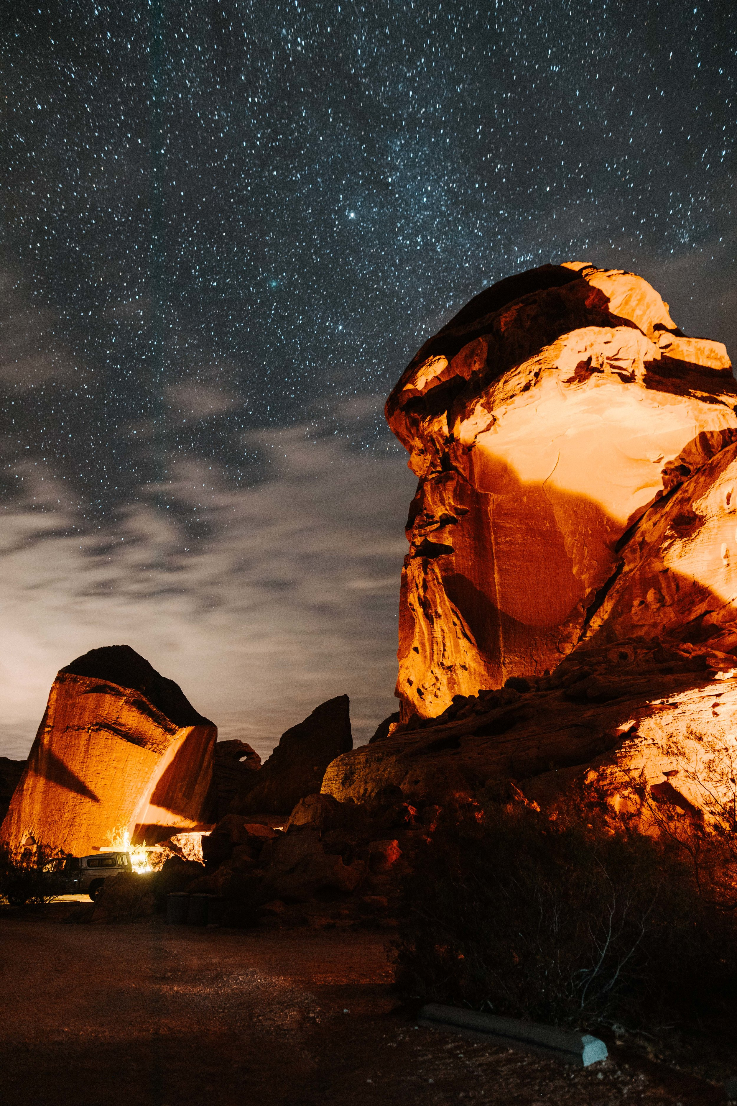 Nighttime at Valley of Fire State Park