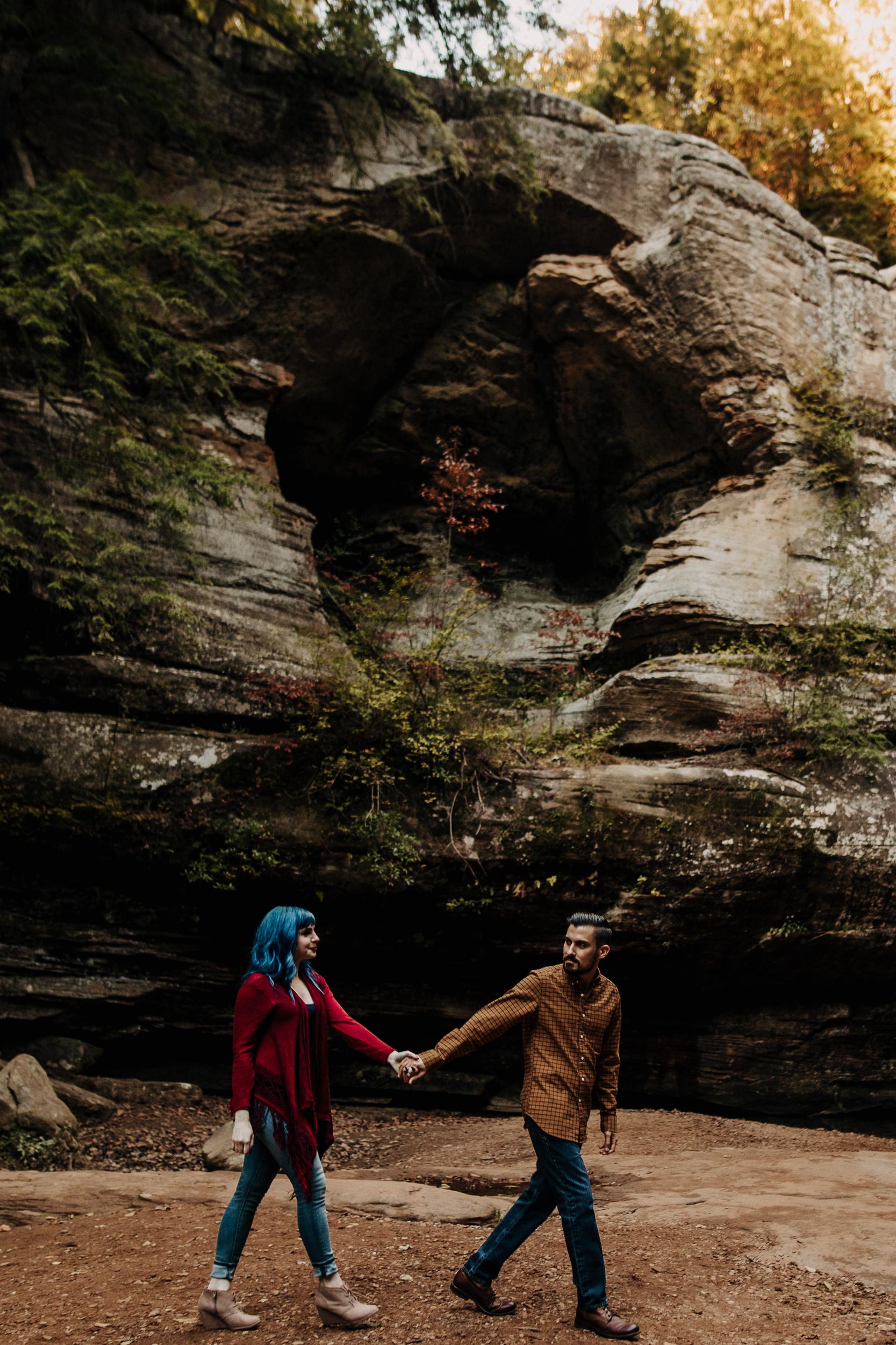 Hocking Hills Ohio Engagement Photoshoot Engagement Session