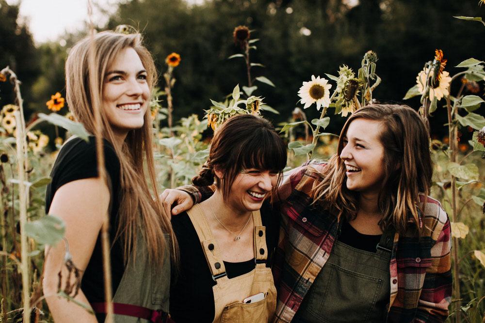 Denvers Bad Bettie Project Non-profit sunflower photoshoot in Lyons, Colorado
