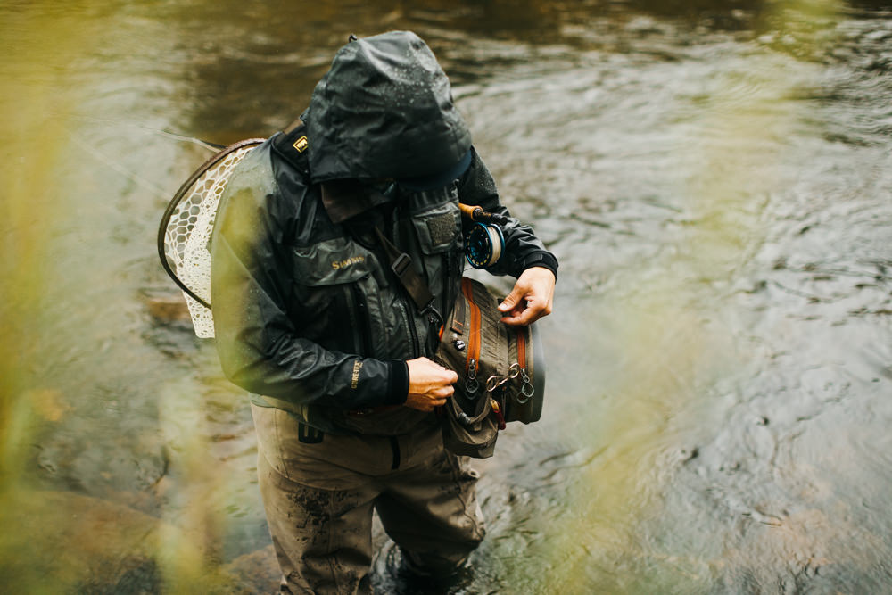 Commercial fly fishing photographer Kimberly Crist for Solyce