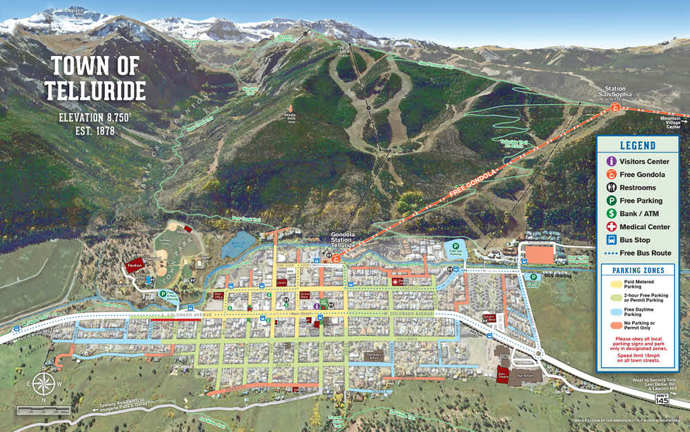 Map of Telluride Town