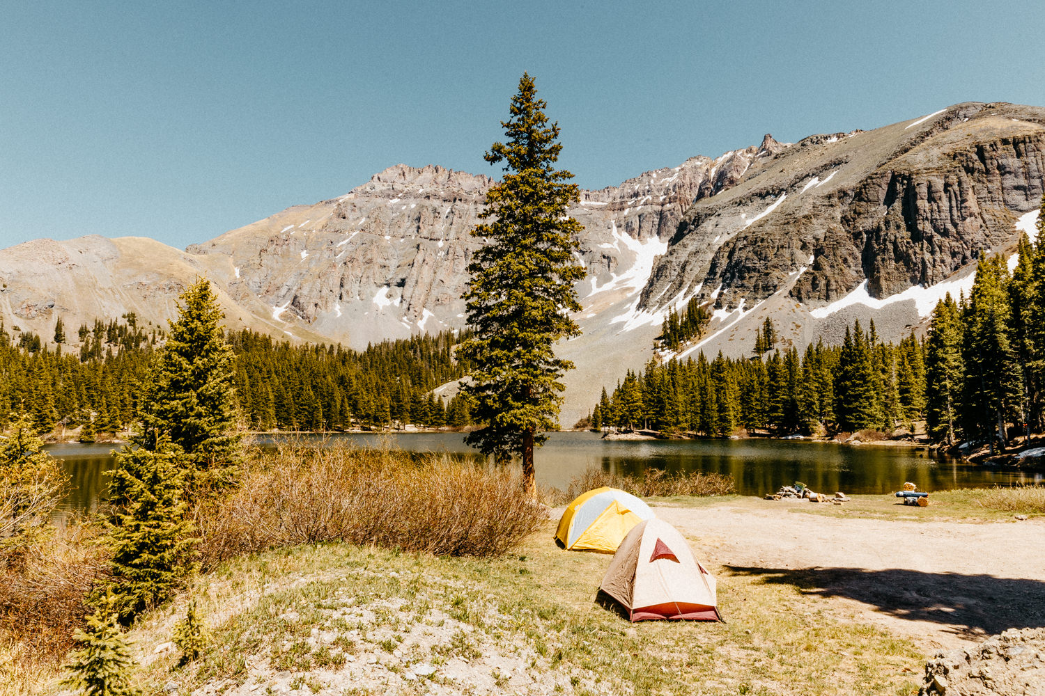 Camp at Alta Lakes campground Gold Creek Telluride