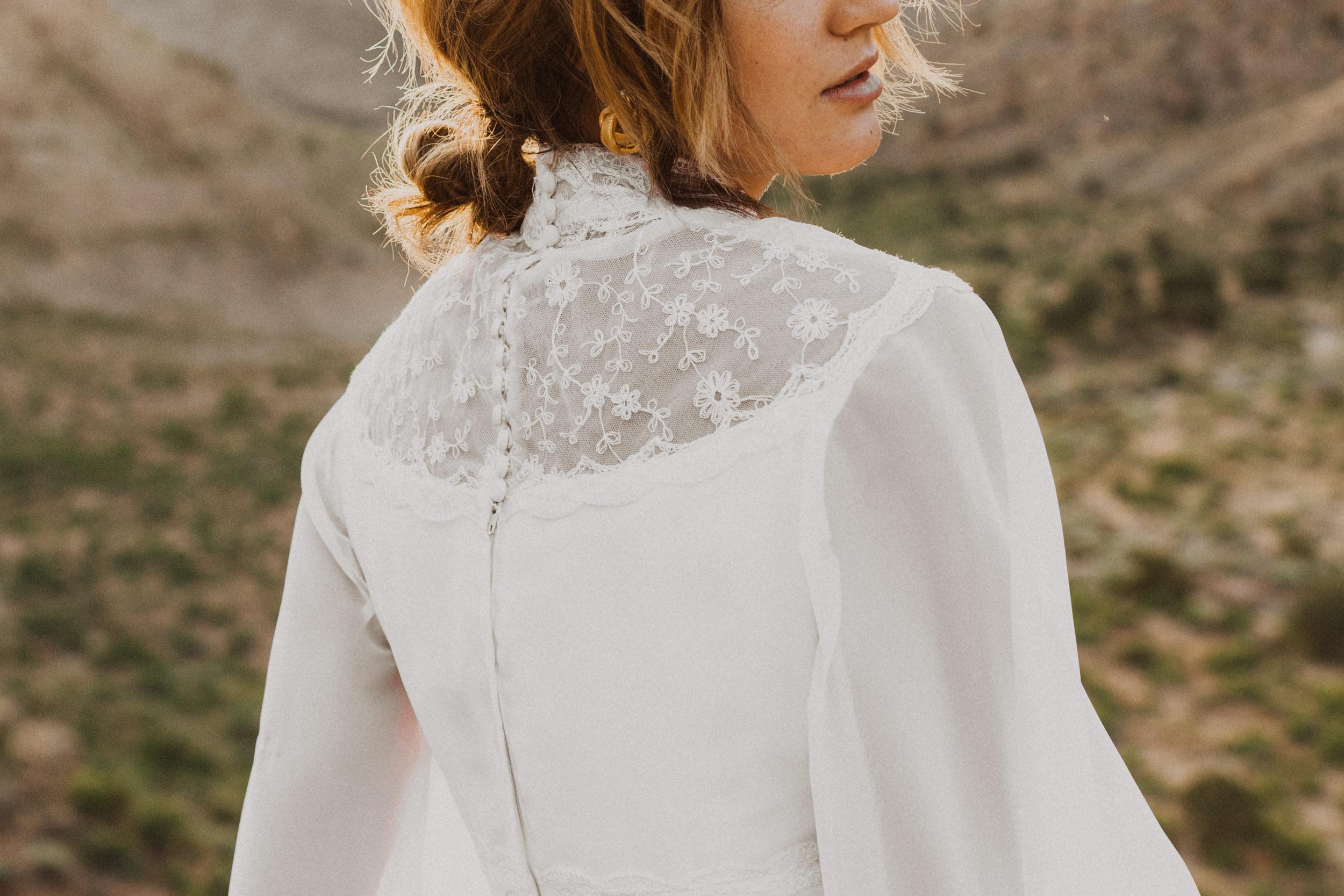 Kagami Vintage wedding dress photoshoot in Palisade