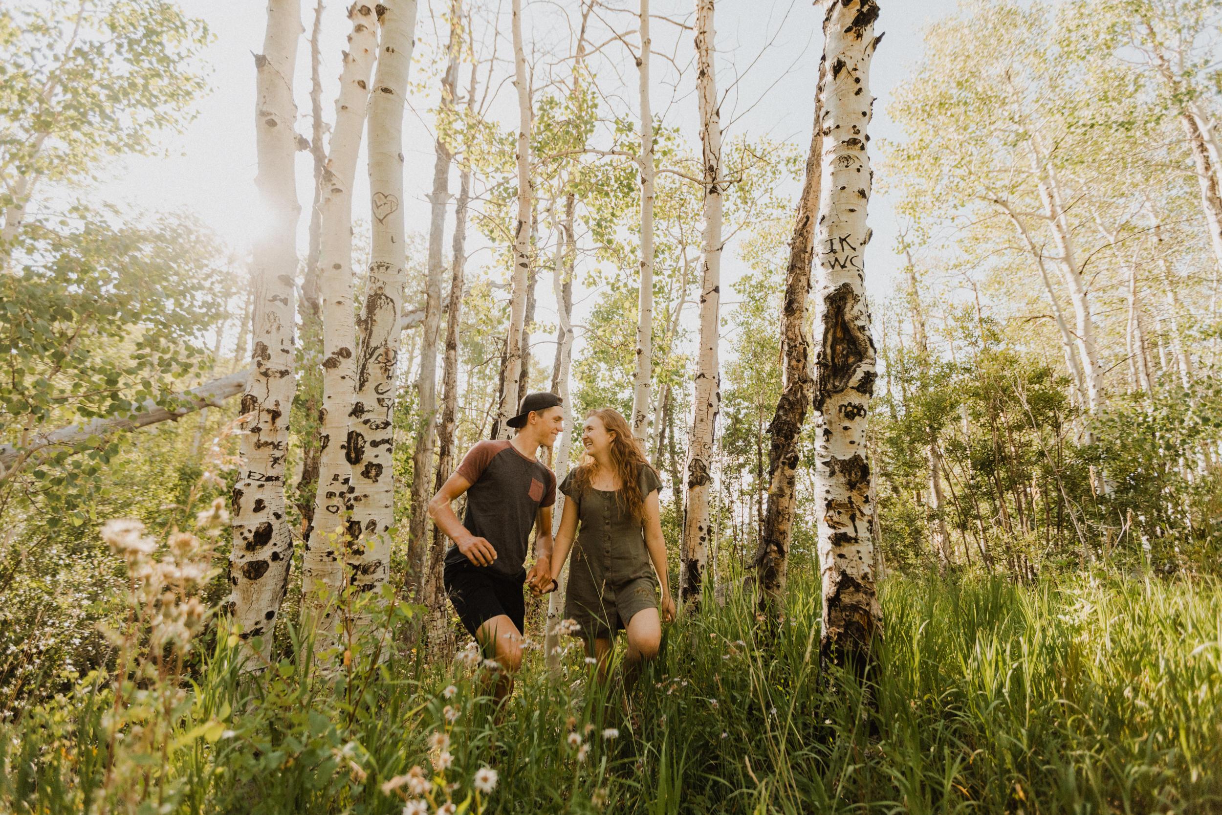 Aspen Grove Couple Photoshoot on the Grand Mesa