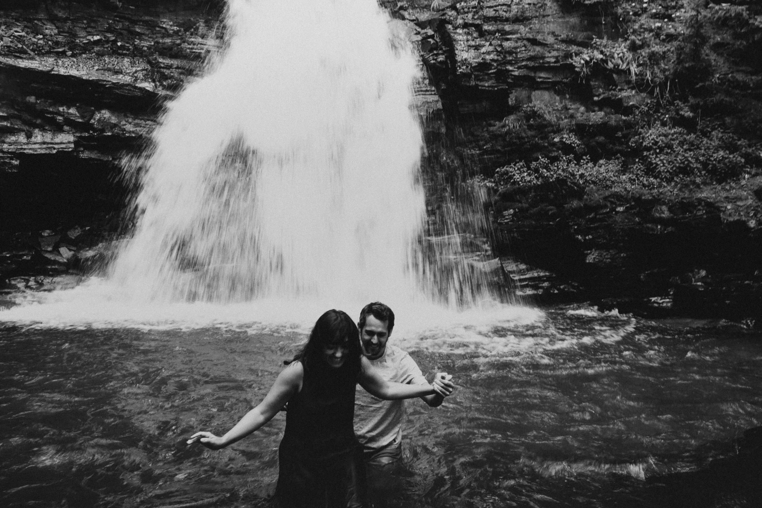 San Juan Waterfall Adventure Couple Photographer