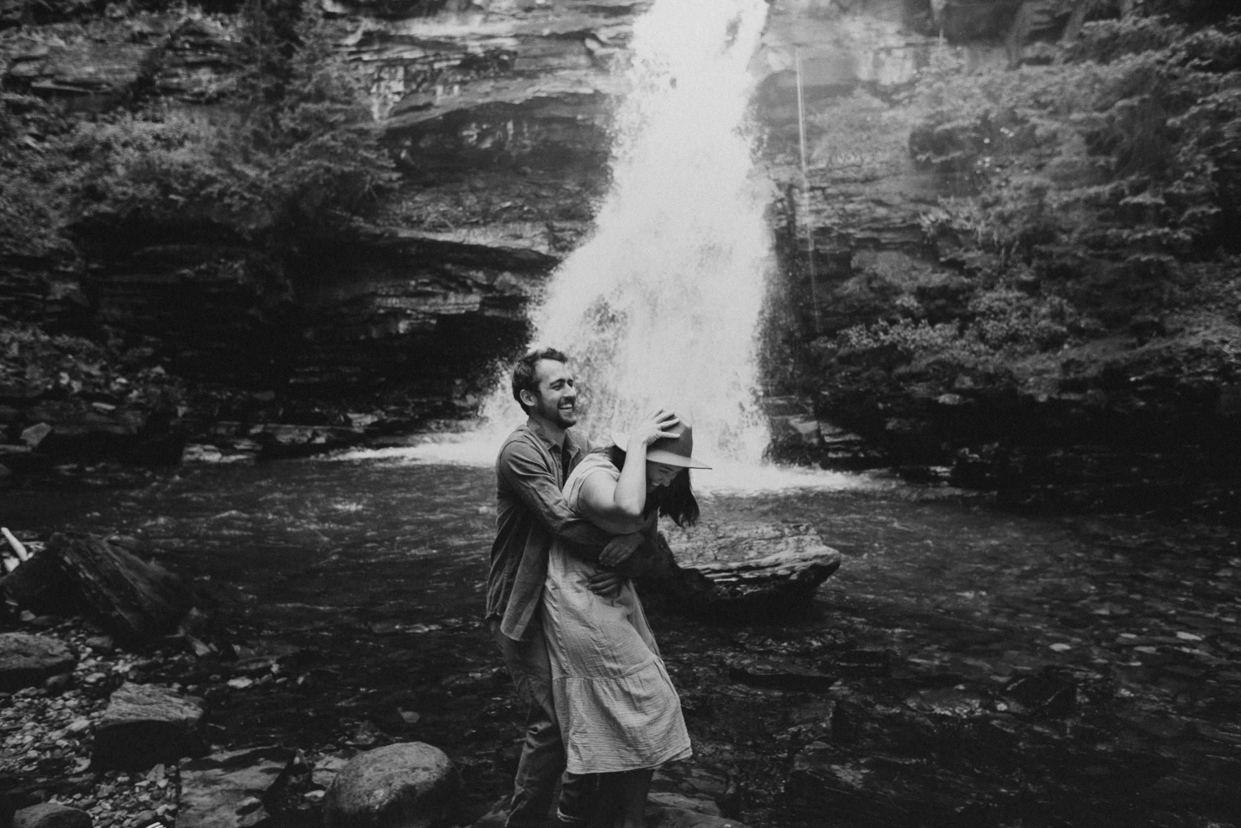 Silverton Colorado Waterfall Couple Photography