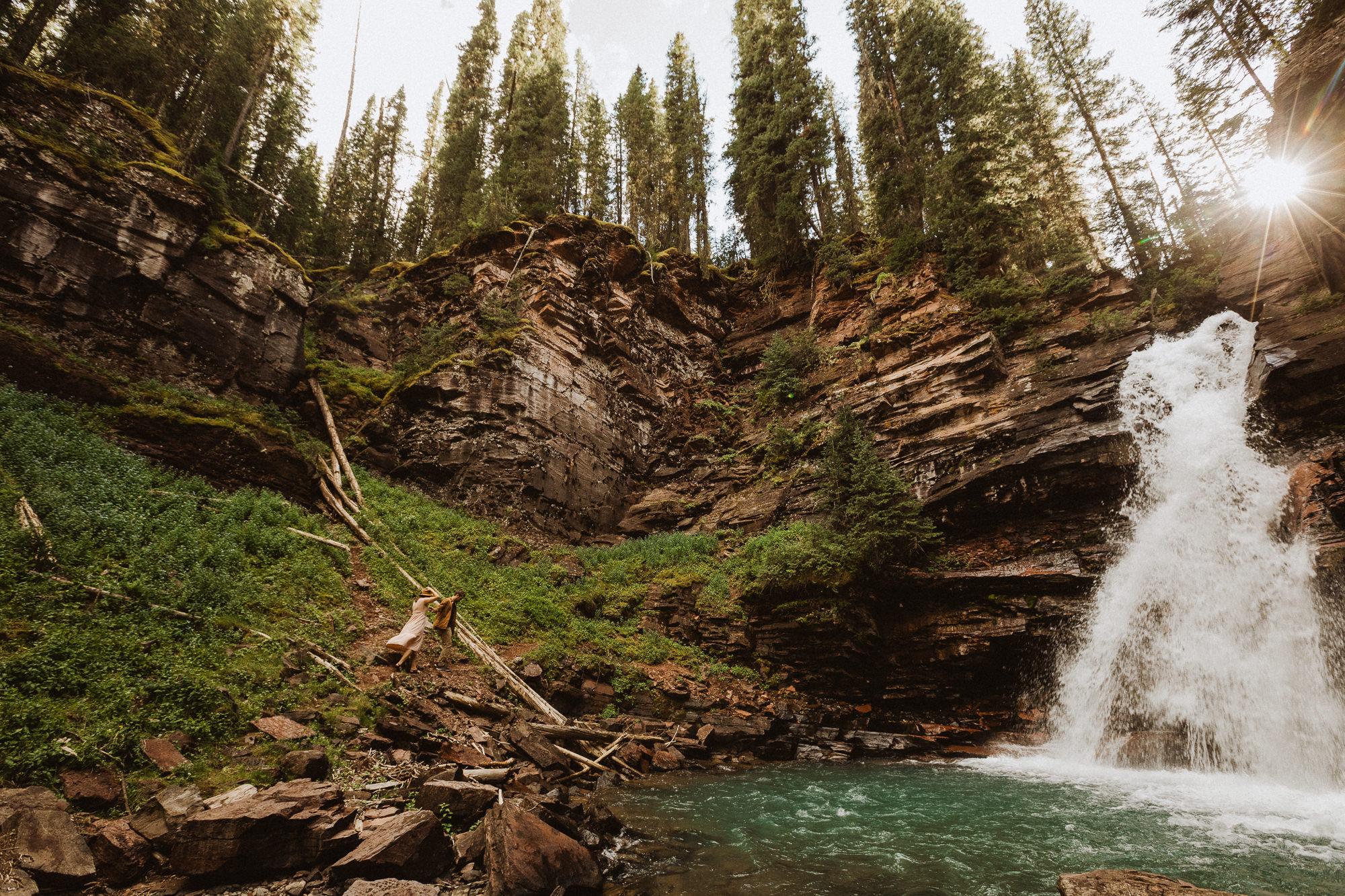 South Creek Mineral Falls elopement
