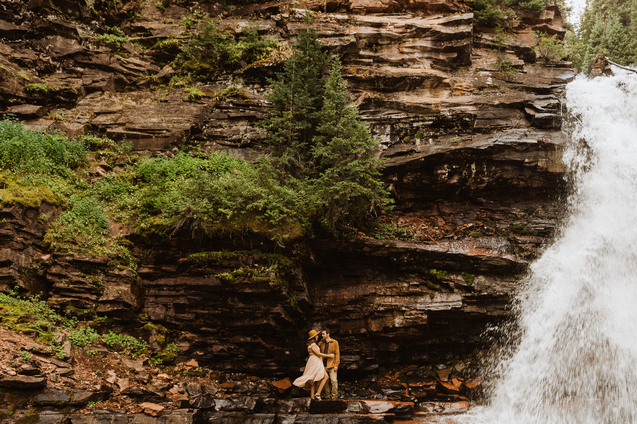 South Creek Mineral Falls | adventure elopement photographer for Silverton, Colorado