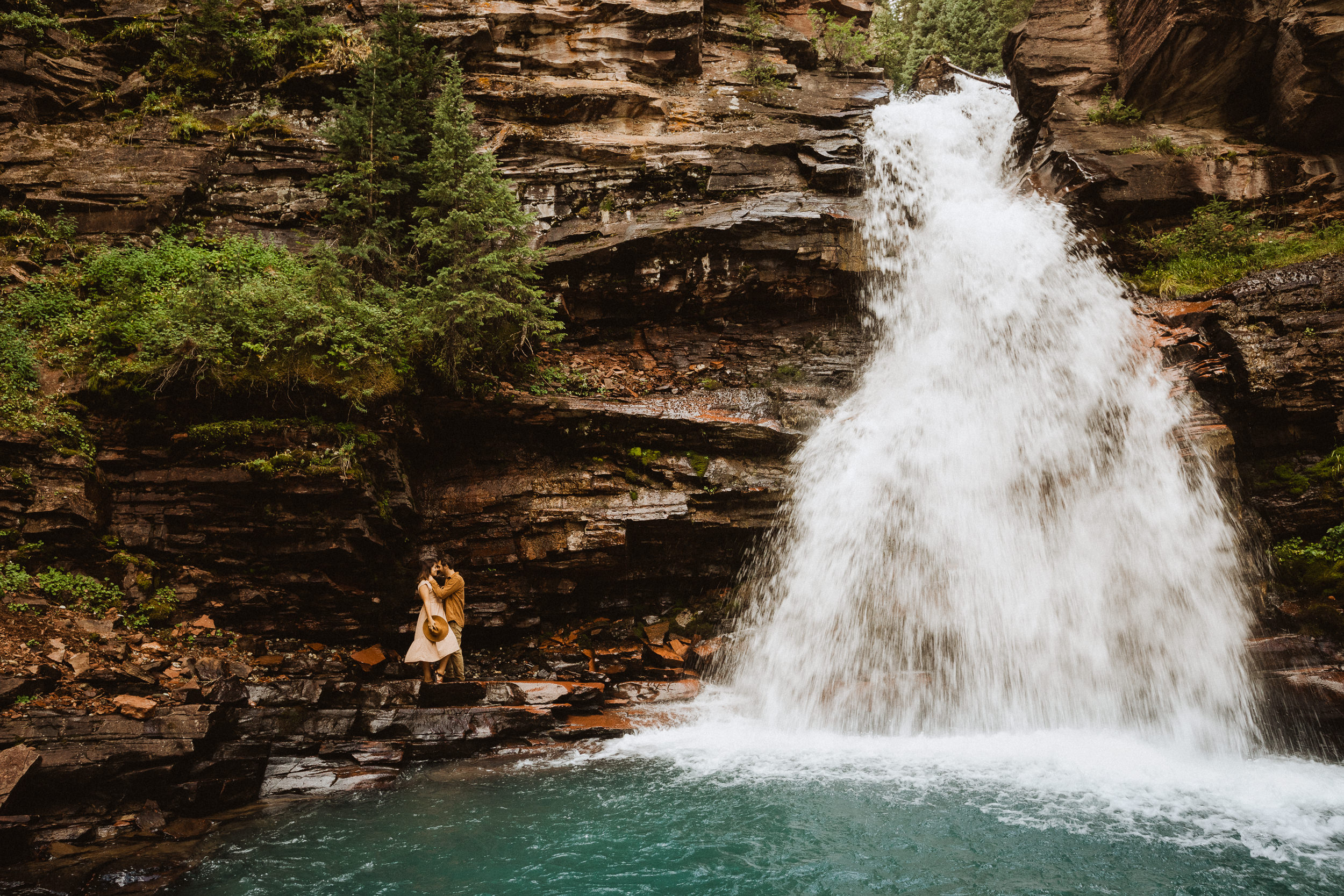 Elopement at South Mineral Creek Falls in Silverton, Colorado