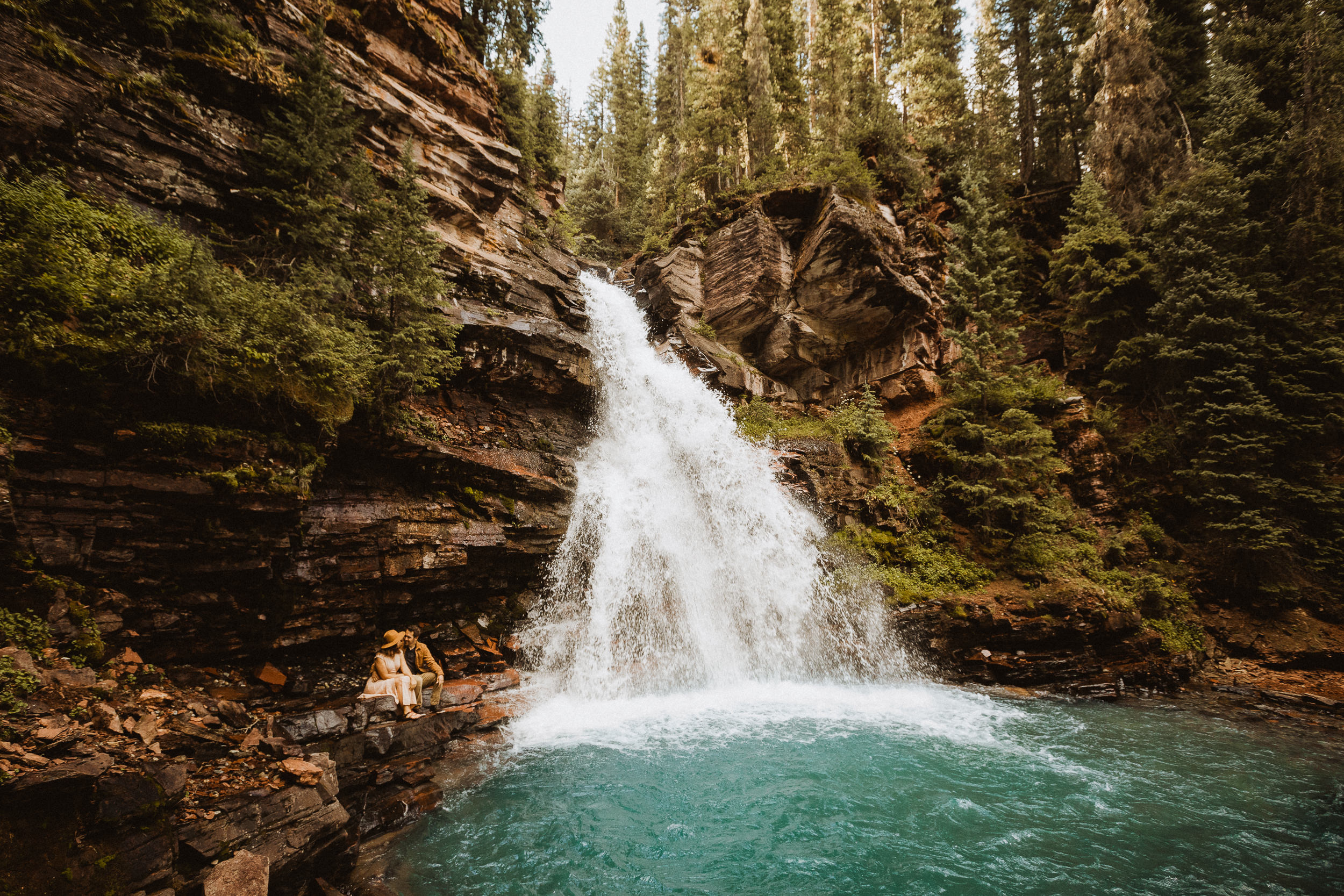 Intimate Elopement at South Mineral Creek Falls in Silverton Colorado