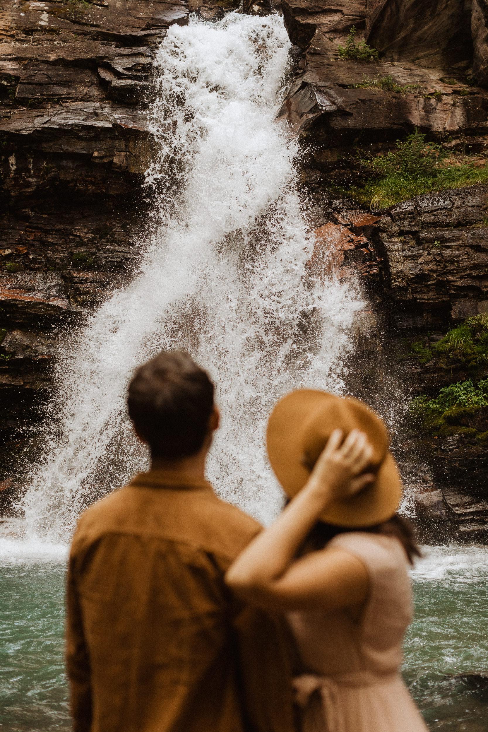 Engagement Photoshoot at Colorado Waterfall