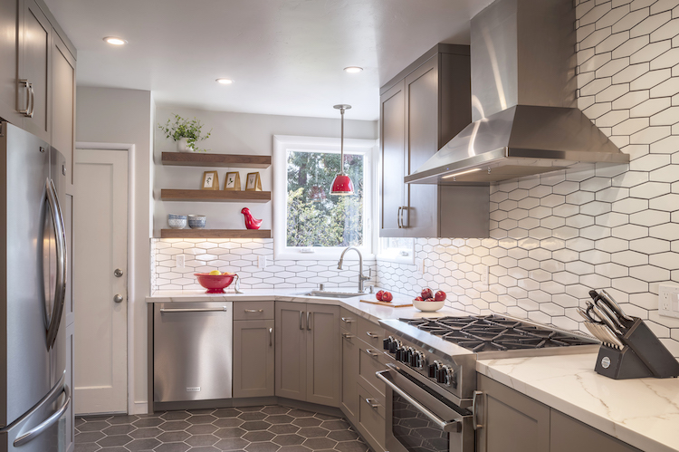 Reimagined kitchen with clean lines, clever storage, and fantastic functional flow.