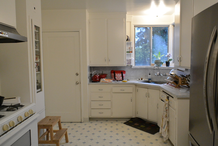 Before - A funky Little kitchen - with BIG potential.