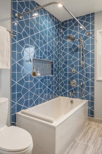 Berkeley Blue Bathroom Remodel